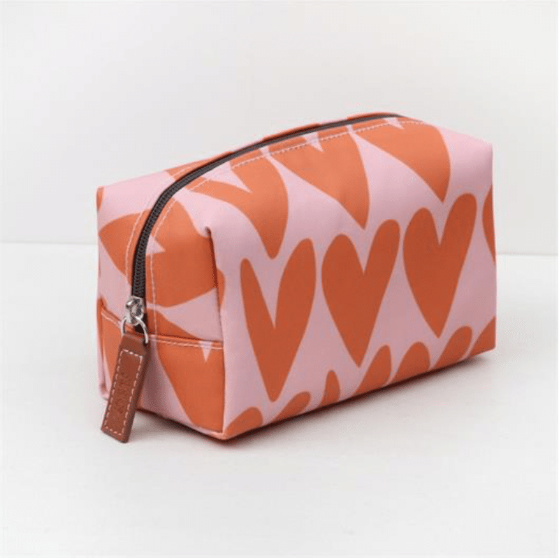 Hearts Cube Cosmetic Bag