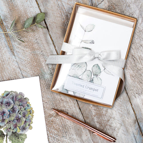 Botanicals   Boxed Set of 8 mixed notecards - Little Gems Interiors