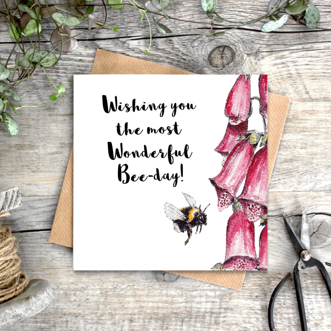 Wishing You the Most Wonderful Bee-day card