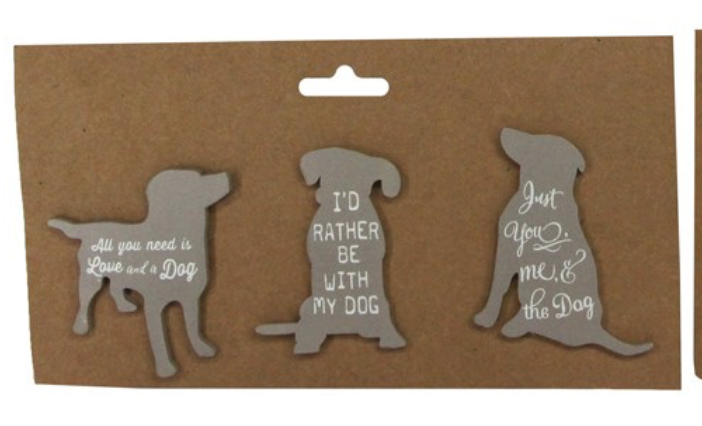 Magnets pack Of 3 - Grey Cats or Dogs