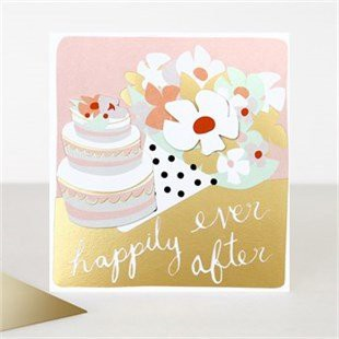 Cake and Flowers Wedding Card