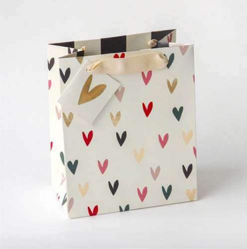 Scattered Hearts Large Gift Bag - Little Gems Interiors