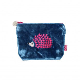 LUA Hedgehog Mini Velvet Purse - 2 colours - Little Gems Interiors