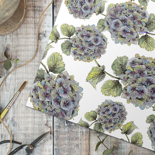 Hydrangea Pure Gift Wrap set - Little Gems Interiors