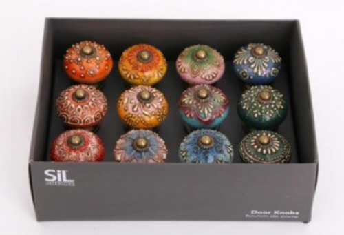 Vintage Colourful Door Knobs - Little Gems Interiors