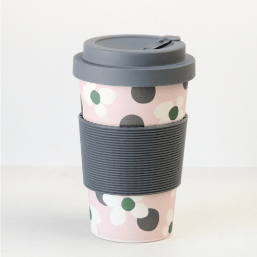 Floral Spot Bamboo Coffee Cup - Little Gems Interiors