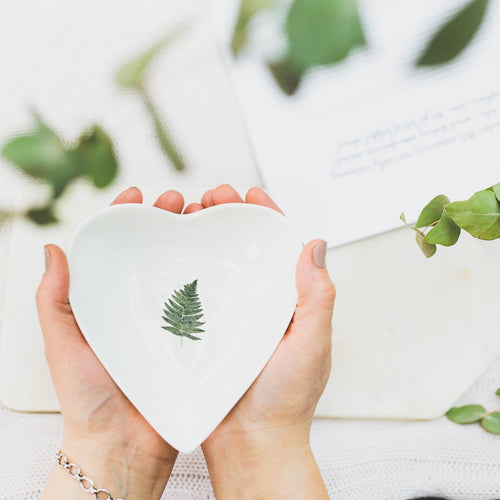 Woodland Fern Boxed heart dish - Little Gems Interiors