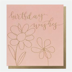 Birthday Wishes Flowers Card