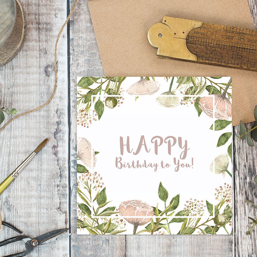 Happy Birthday to you card - Little Gems Interiors