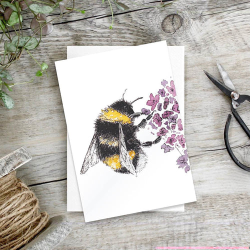 Lavender Love (Bee) – Set of 6 notecards - Little Gems Interiors