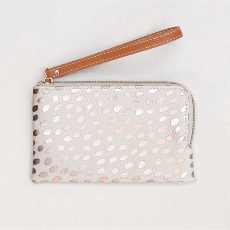 Dotty Metallic Essential Purse Rose Gold