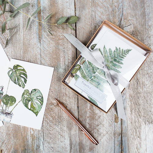 Greenery Boxed Set of 8 mixed notecards - Little Gems Interiors