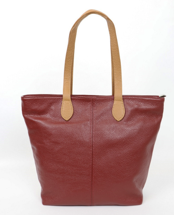 Leather Shoulder/Holdall Bag - Duo Tone - various colours - Little Gems Interiors