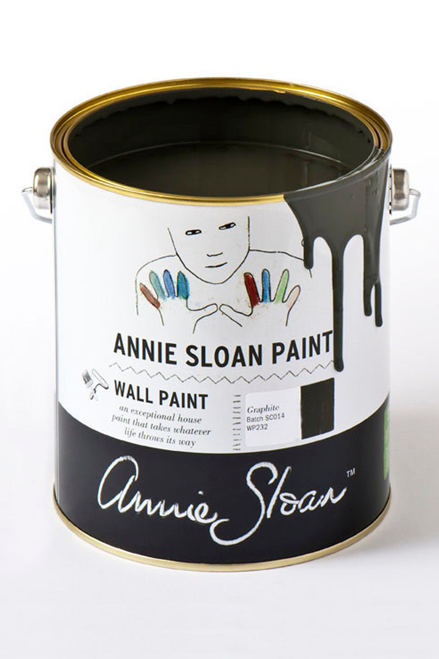 Graphite Wall Paint by Annie Sloan - Little Gems Interiors