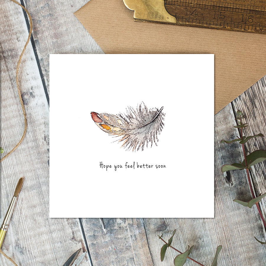 Hope you feel better soon card - Little Gems Interiors