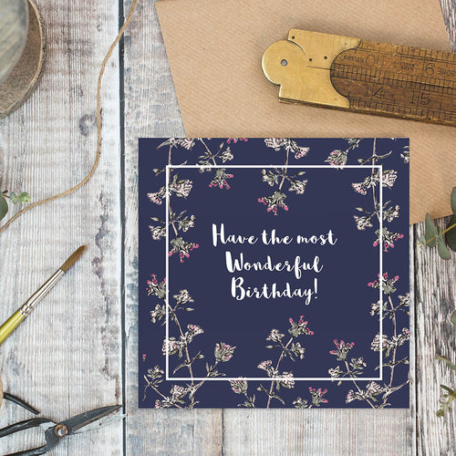 Have the Most Wonderful Birthday (Navy) card - Little Gems Interiors