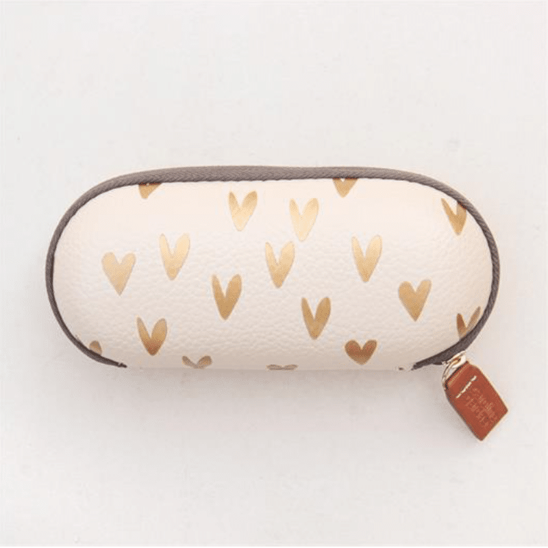 Metallic Hearts Glasses Case - Little Gems Interiors