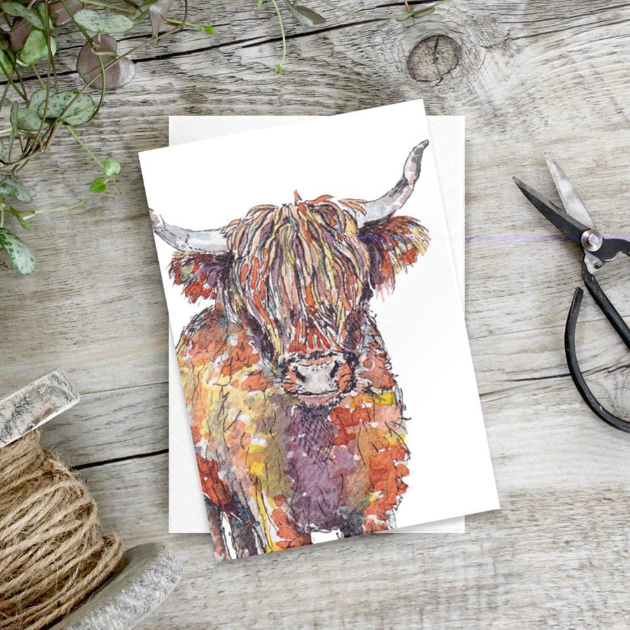 Highland Cow – Set of 6 notecards - Little Gems Interiors