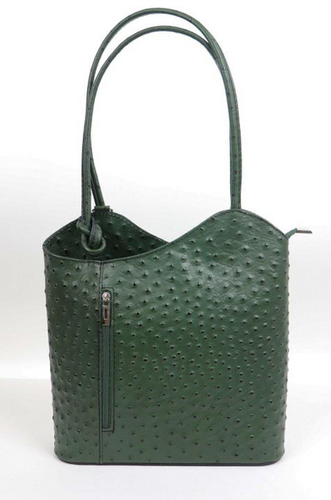 Leather Back pack - Ostrich - Single Tone - various colours - Little Gems Interiors
