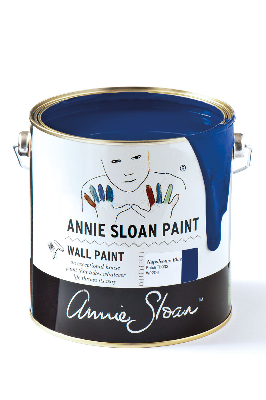 Napoleonic Blue Wall Paint by Annie Sloan - Little Gems Interiors