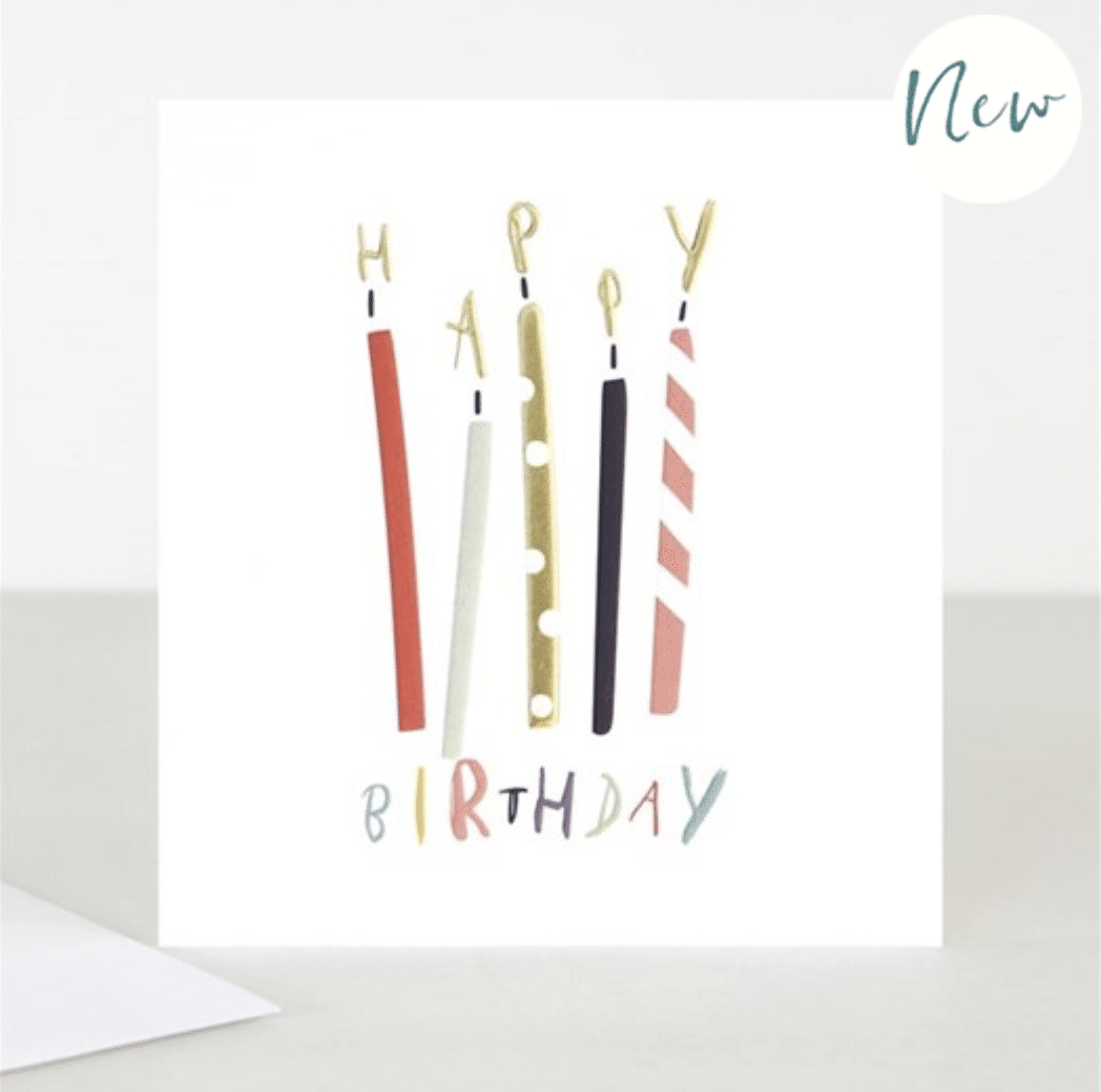 Candles Gold Birthday Card - Little Gems Interiors