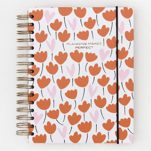 Heart Flower Notebook Organiser - Little Gems Interiors