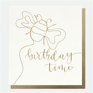 Birthday Time Bee Card - Little Gems Interiors