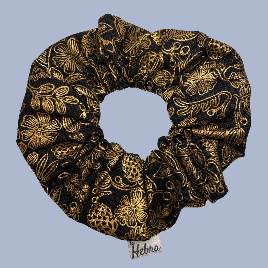 Scrunchie Primavera Black - Mediano