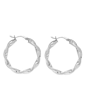 Alicia Hoop Earrings Silver