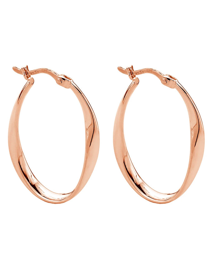 Cinta Hoop Rose Gold