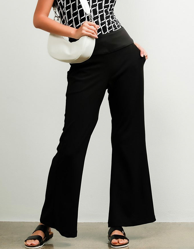 Classic Fit & Flare Trouser Black