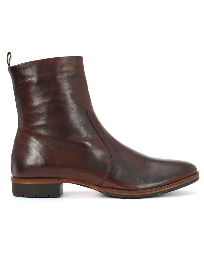 Gada Ankle Boots Chestnut Leather