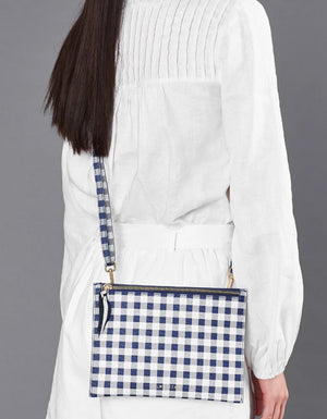 New York Messenger Navy Gingham