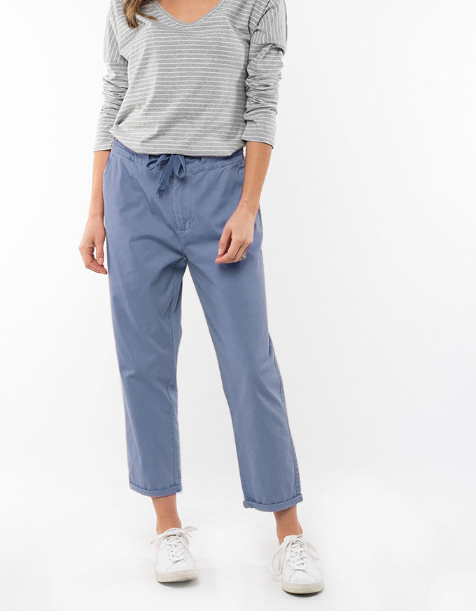 Adelyn Chino Pant Steel Blue