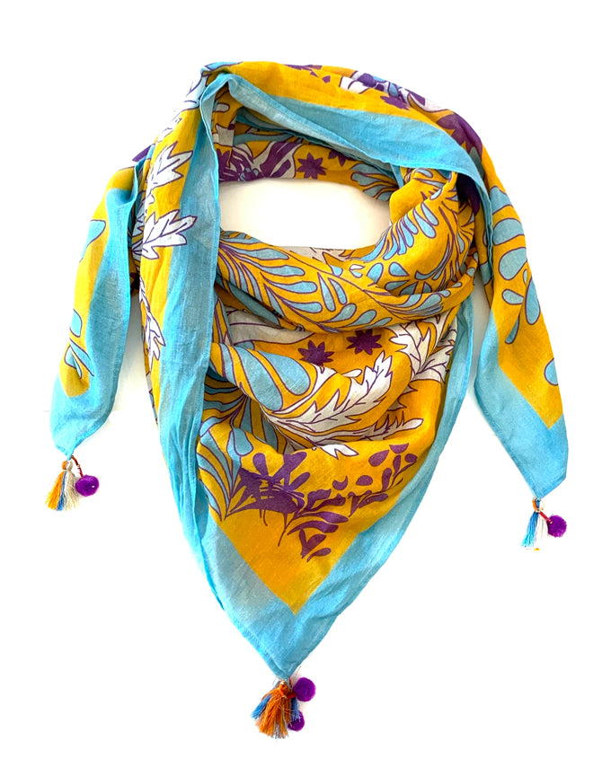 The Alyssa Scarf in Multi Print.