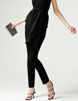 The Bengaline Skinny Pant in Black, from Sacha Drake.  A comfortable slim stretch leg pant that's all about a flattering cut.