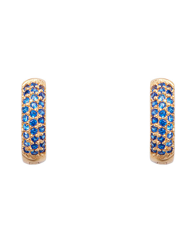 Blue Crystal Pave Huggies