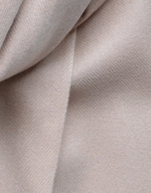 The Cashmere Scarf in Skin Pink.  A beautiful soft cashmere scarf, with fringed ends.