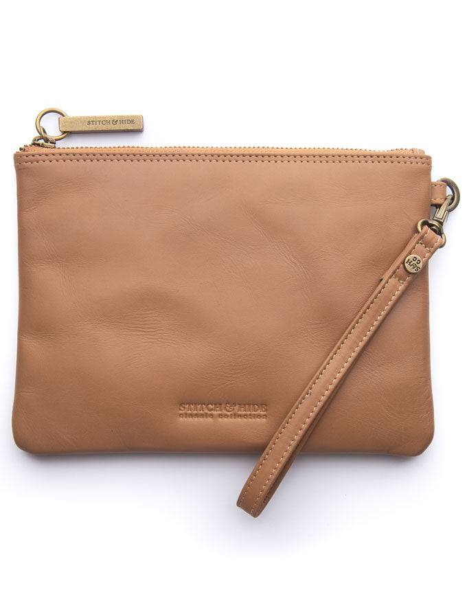 The Cassie Classic Collection Clutch - Latte