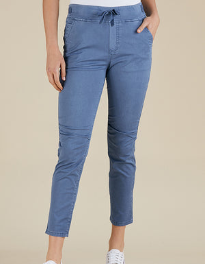 Threadz Cotton Jogger Pant Blue