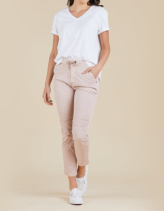 Threadz Cotton Jogger Pant Pink