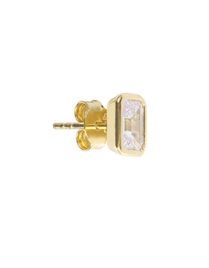 Crystal Deco Studs Gold