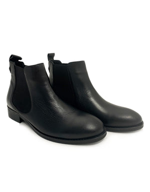 The Flirt Boots in Black Leather.