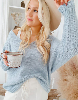 The Honey Jumper in Ice Blue.