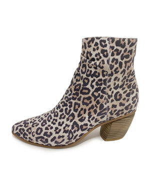 Jakoby Ankle Boots Taupe Leopard