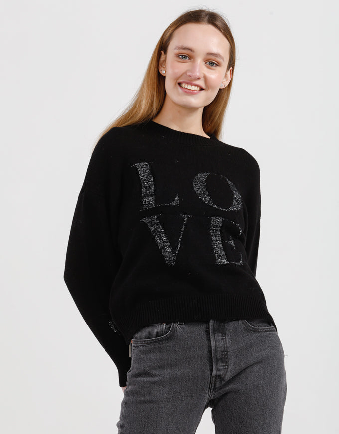 Love is in the Air Knit - Black