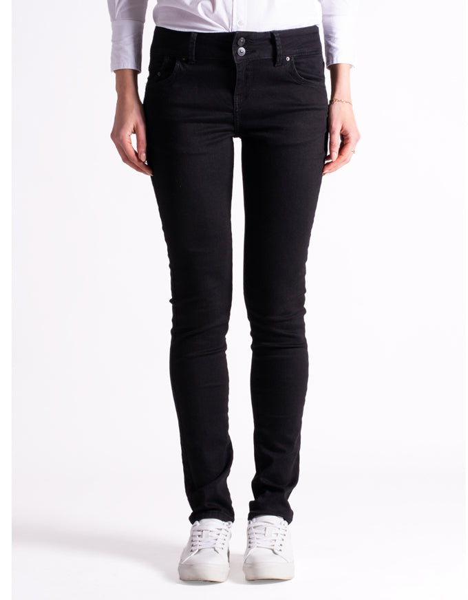 Molly Low Rise Skinny Black to Black