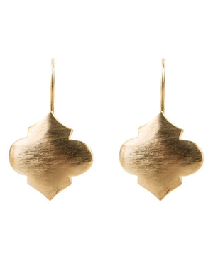Moroccan Hook Earrings Gold