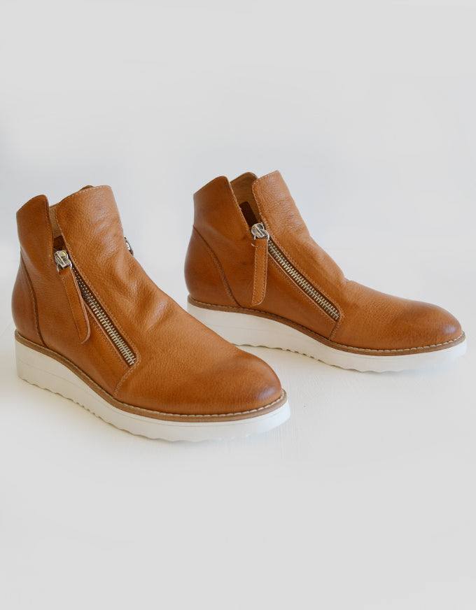 Oh My!  The Oh My Ankle Boots in Dark Tan Leather, by Top End.