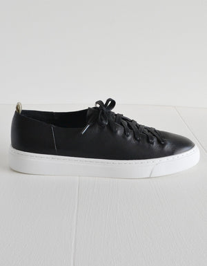 The Orphic Black Leather Sneakers.